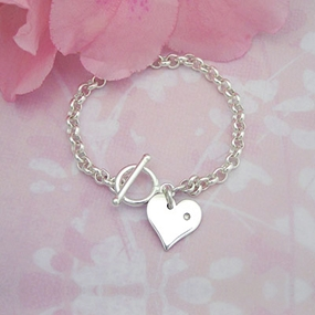 Diamond Girl Toggle Baby Bracelet diamond girl toggle baby id bracelet for babies and infants