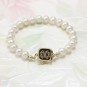 14kt Gold Babys First Pearls Bracelet