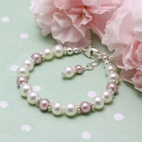 Ribbons and Lace Pearl Bracelet