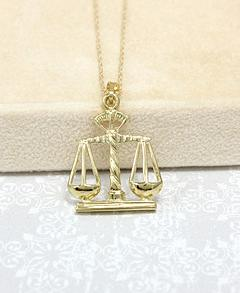 14 kt Yellow Gold Scales Necklace 14 Kt Scales of Justice