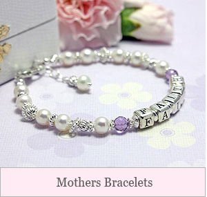 Show off your family with our collection of Mothers Bracelets. Beautiful styles in sterling, pearls, and gemstones; these bracelets make the perfect gift for mom or grandmother!