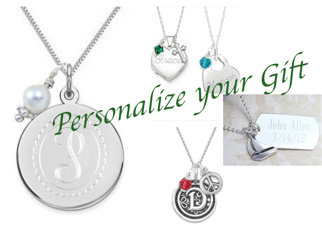 We have a collection of ways to personalize each gift, from engraved messages, birthstones, and charms.